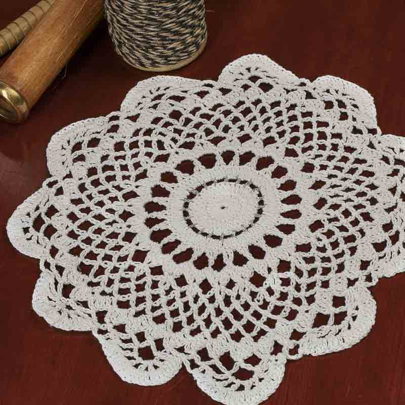 Silver Doilies Fresh Round Silver Accented Cream Crocheted Doily Crochet and Of Top 47 Pictures Silver Doilies