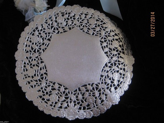 "Silver Doilies Inspirational Items Similar to 10"" Inch Round Silver Foil Paper Lace Of Top 47 Pictures Silver Doilies"