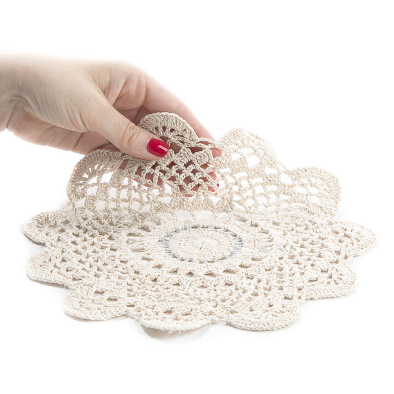 Silver Doilies Lovely Round Silver Accented Ecru Crocheted Doily Crochet and Of Top 47 Pictures Silver Doilies