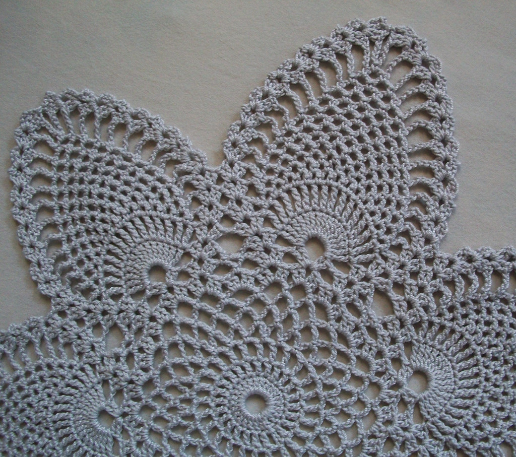 Silver Doilies New Crochet Doily with Pineapple Motifs In Silver Gray Of Top 47 Pictures Silver Doilies