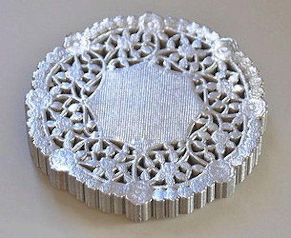Silver Doilies Unique Metallic Silver Doily Lace Paper 4 Inch 20 Per Pack by Of Top 47 Pictures Silver Doilies