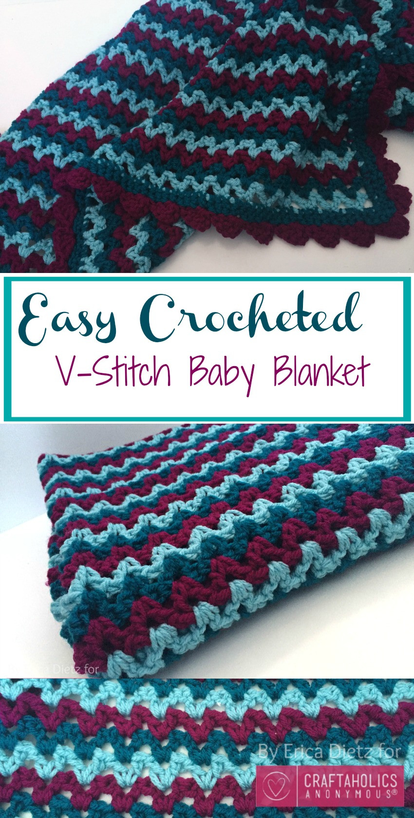 Simple Baby Blanket Crochet Pattern Lovely Craftaholics Anonymous Of Beautiful 46 Pics Simple Baby Blanket Crochet Pattern