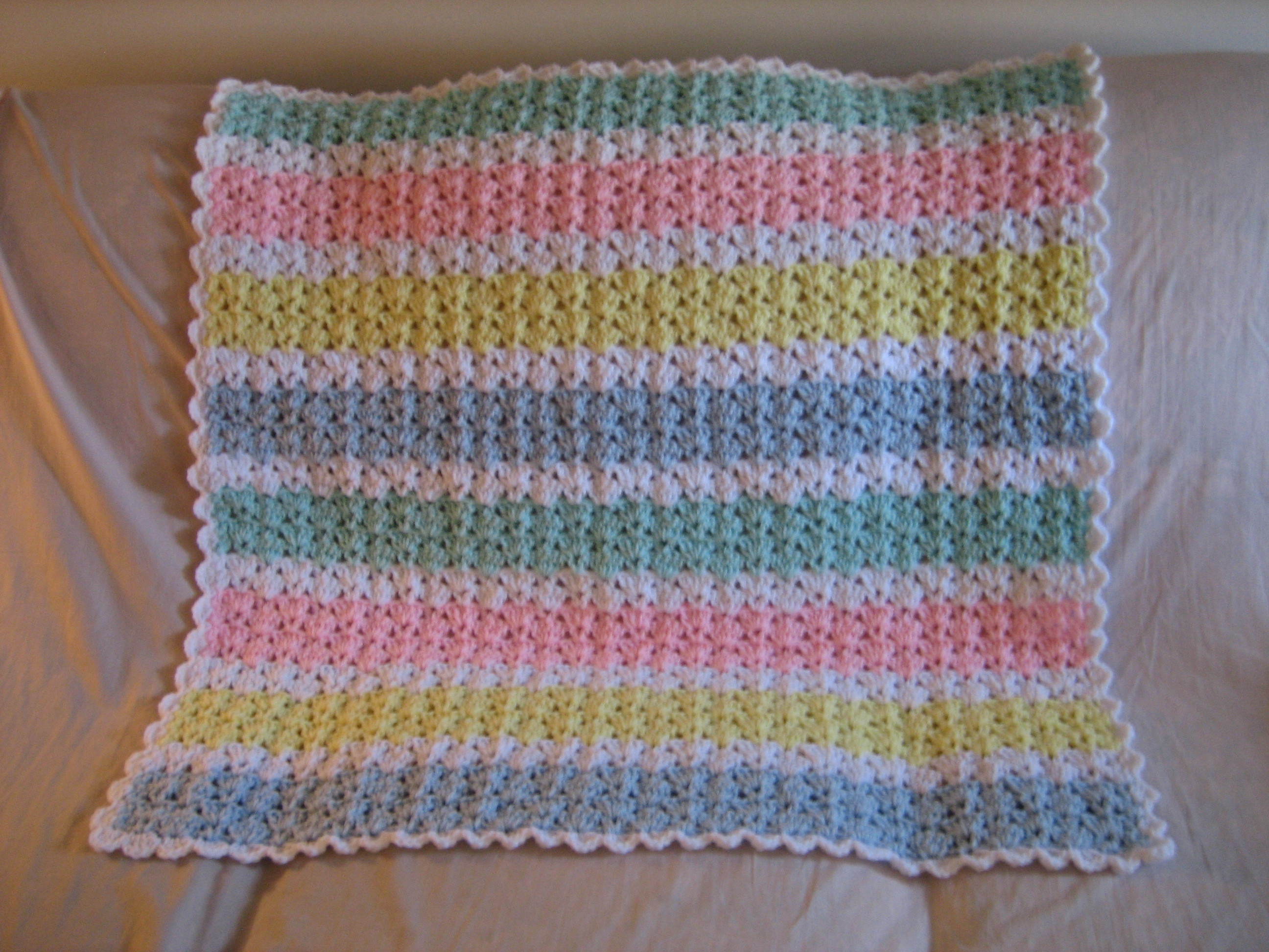 Simple Baby Blanket Crochet Pattern Lovely Pastel Baby Afghan Pattern Of Beautiful 46 Pics Simple Baby Blanket Crochet Pattern