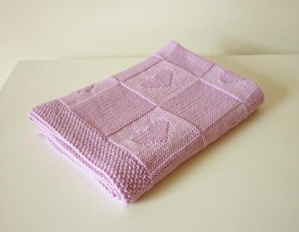 10 easy to knit baby blankets