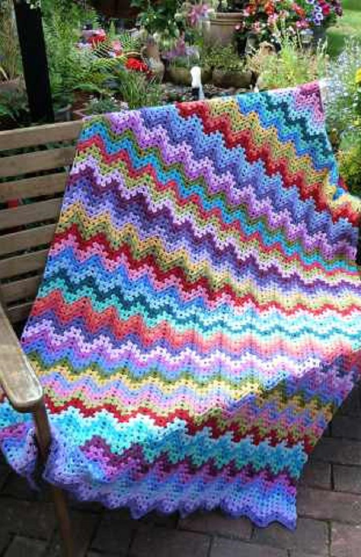 Simple Crochet Afghan Patterns Awesome Best 25 Ripple Afghan Ideas On Pinterest Of Innovative 49 Pics Simple Crochet Afghan Patterns
