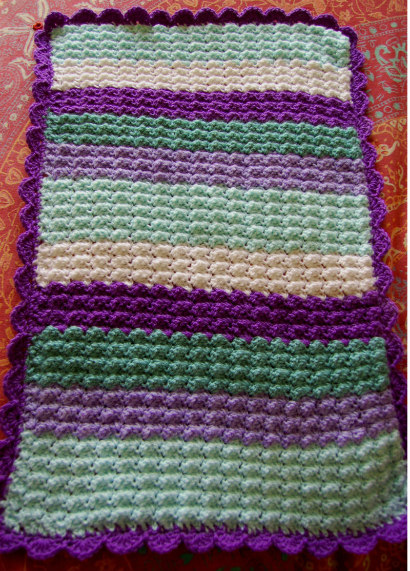 Quick And Easy Crochet Baby Afghan Pattern Dancox for