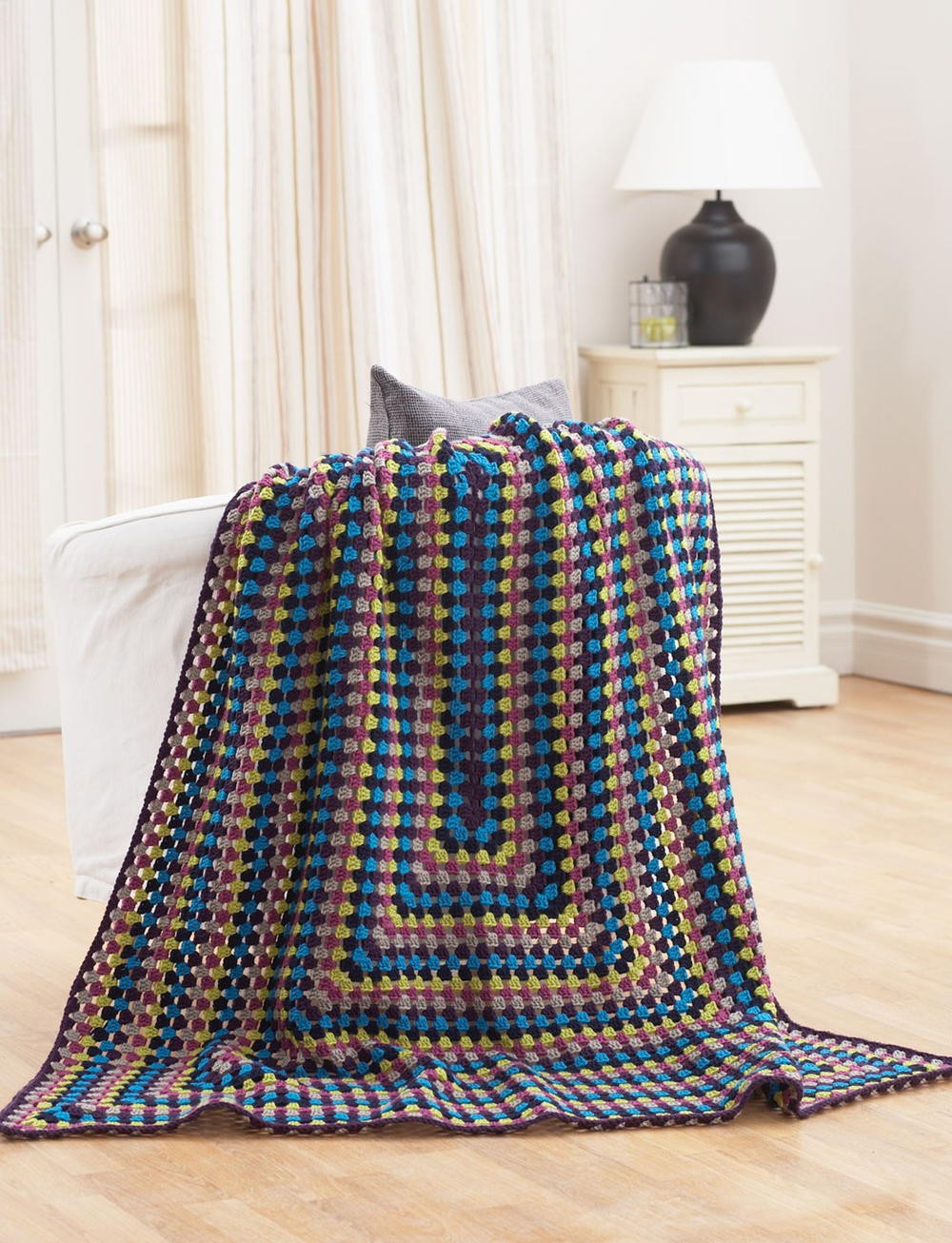 Simple Crochet Afghan Patterns New Quick and Easy Jeweled Afghan Of Innovative 49 Pics Simple Crochet Afghan Patterns