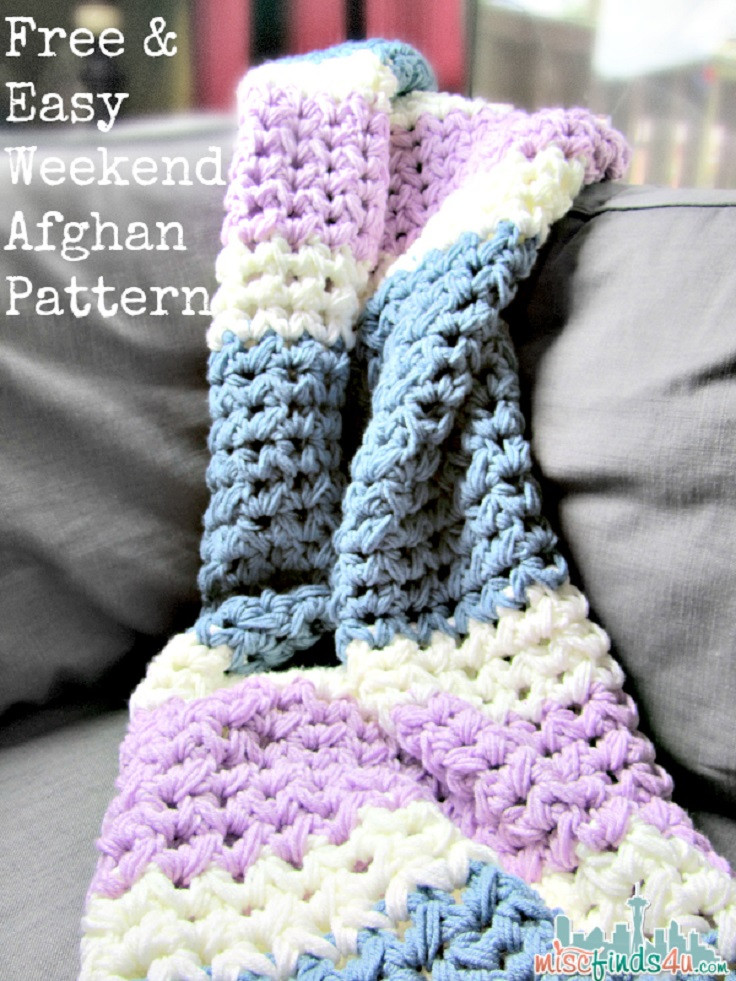 Simple Crochet Afghan Patterns New top 10 Free Easy Crochet Patterns for Beginners top Inspired Of Innovative 49 Pics Simple Crochet Afghan Patterns