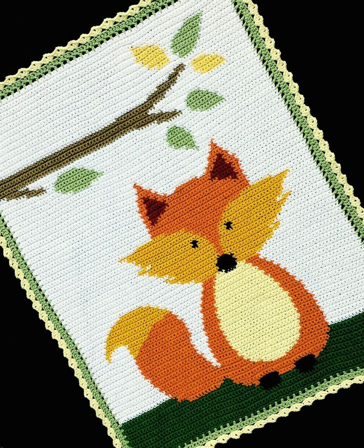 Simple Crochet Afghan Patterns Unique Crochet Patterns Fox Woodland forest Baby Afghan Pattern Of Innovative 49 Pics Simple Crochet Afghan Patterns