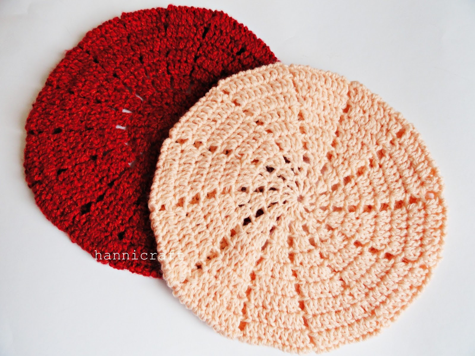 hannicraft Simple beret crochet pattern