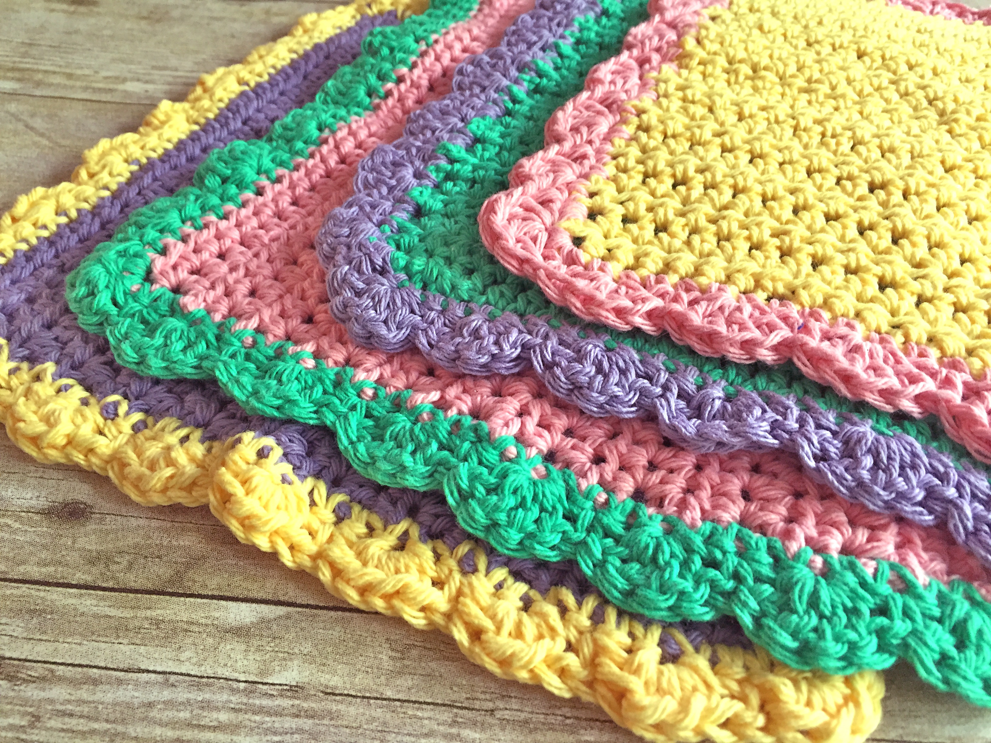 Crochet Dishcloth Pattern Free Easy Dancox for