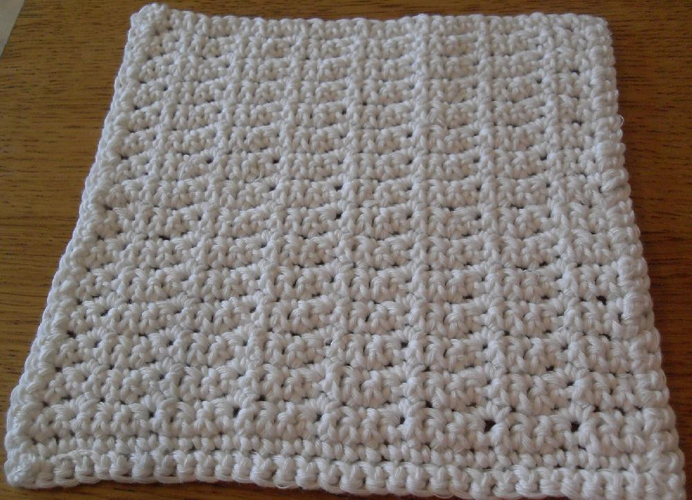 Single Crochet Patterns Inspirational Simple Dishcloth Practice Single Crochet Sc Of Single Crochet Patterns Inspirational Zig Zag Crochet Patterns Free Patterns