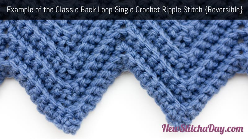 Single Crochet Stitch New the Classic Back Loop Single Crochet Ripple Stitch Of Delightful 40 Pictures Single Crochet Stitch