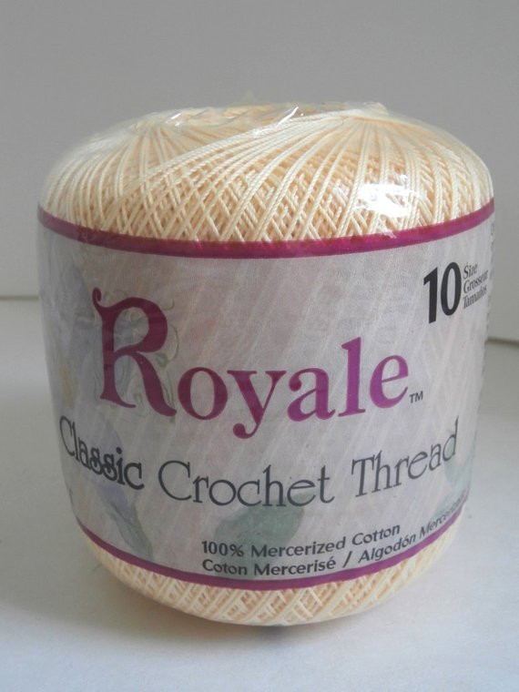 Size 10 Crochet Thread Awesome Royale Classic Crochet Thread Maize Size 10 by buttonbuddy Of Luxury 49 Models Size 10 Crochet Thread
