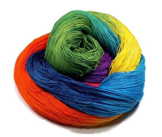 300 Yards Hand Dyed Cotton Crochet Thread Size 10 3 Ply
