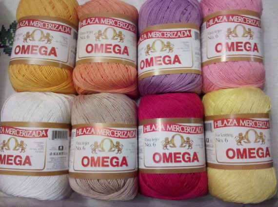 Size 6 Yarn Beautiful Omega Cotton Yarn Mercerized 4 Pcs Thru 8 Pcs Size 6 Of Fresh 46 Pics Size 6 Yarn