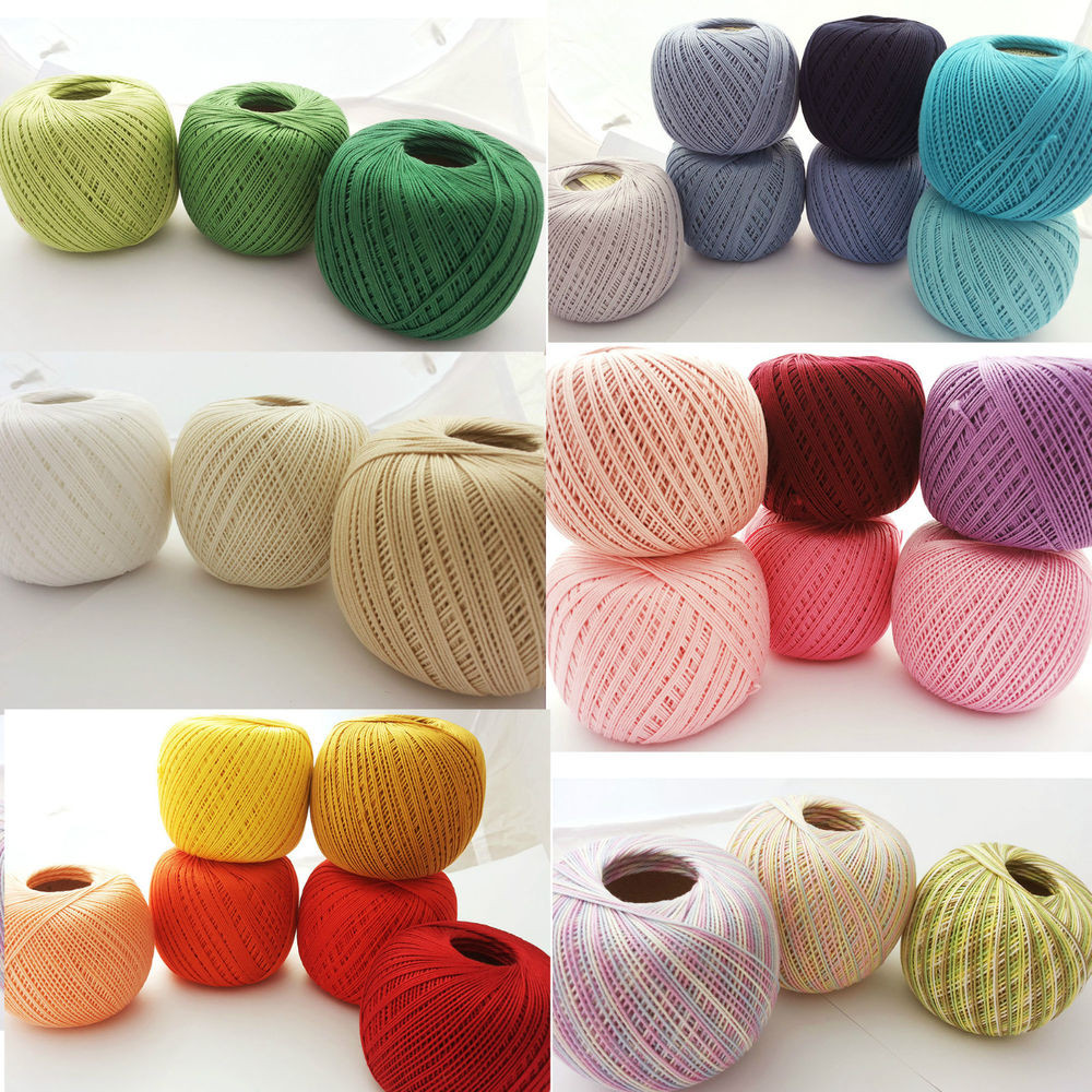 Size 6 Yarn Luxury Crochet Cotton Knitting Yarn Size 10 Thread 50g 250m Of Fresh 46 Pics Size 6 Yarn