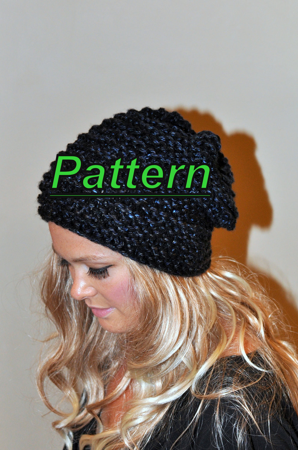Slouch Hat Inspirational Slouchy Beanie Slouchy Hat Pdf Pattern Diy Hand Knit Winter Of Top 49 Models Slouch Hat
