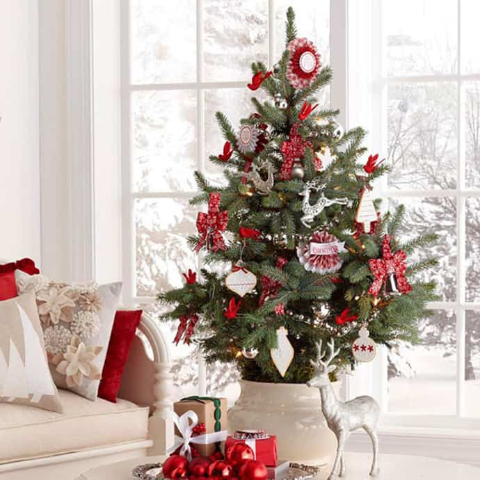 Small Decorated Christmas Trees Inspirational 25 Beautiful Christmas Tree Decorating Ideas Of Charming 48 Models Small Decorated Christmas Trees