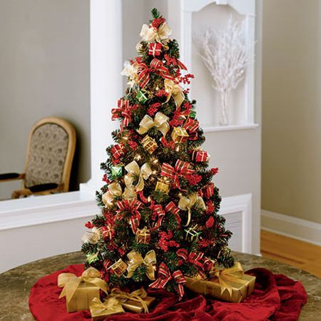 Small Decorated Christmas Trees Inspirational Decorated Mini Christmas Trees with Lights Usa Delivery Of Charming 48 Models Small Decorated Christmas Trees