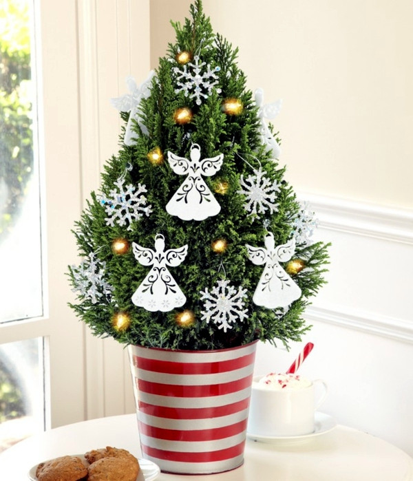 Small Decorated Christmas Trees Lovely Christmas Tree In Pot – the Festive Decor and Beautiful Of Charming 48 Models Small Decorated Christmas Trees