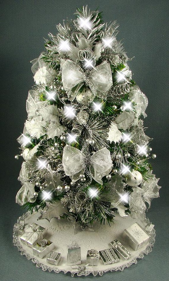 Small Decorated Christmas Trees Luxury Decorated Mini Tabletop Christmas Tree Silver and White 20 Of Charming 48 Models Small Decorated Christmas Trees