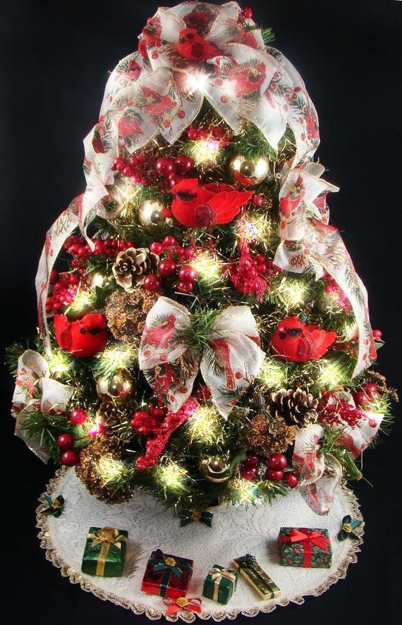 Small Decorated Christmas Trees Unique Decorated Mini Tabletop Christmas Tree Cardinal theme 20 Of Charming 48 Models Small Decorated Christmas Trees