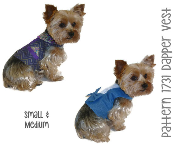 Small Dog Clothes Patterns Best Of Dapper Dog Vest Pattern 1731 Small & Medium Dog Of Contemporary 43 Ideas Small Dog Clothes Patterns