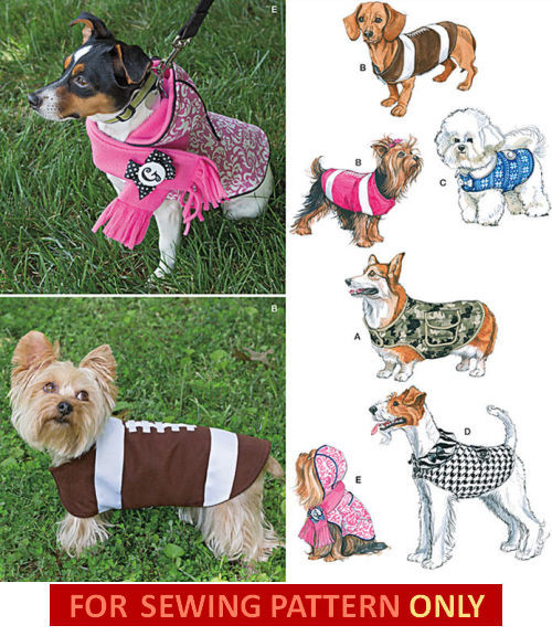 Small Dog Clothes Patterns Inspirational Sewing Pattern Make Small Large Dog Clothes 5 Coats Of Contemporary 43 Ideas Small Dog Clothes Patterns