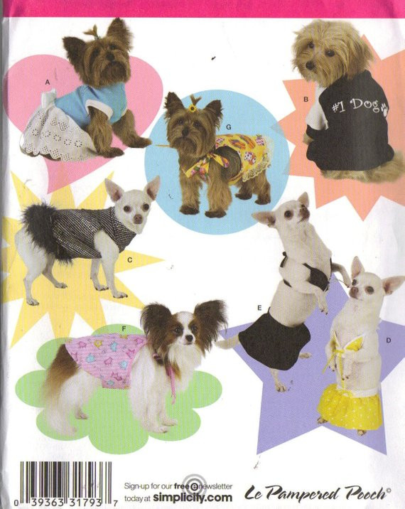 Small Dog Clothes Patterns Luxury Dog Clothes Pattern Size Small and Extra Small 7 Outfits I Of Contemporary 43 Ideas Small Dog Clothes Patterns