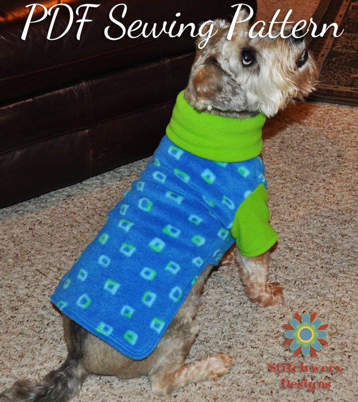 Small Dog Clothes Patterns Luxury Dog Clothes Pdf Sewing Pattern Small Dog by Stitchwerxdesigns Of Contemporary 43 Ideas Small Dog Clothes Patterns