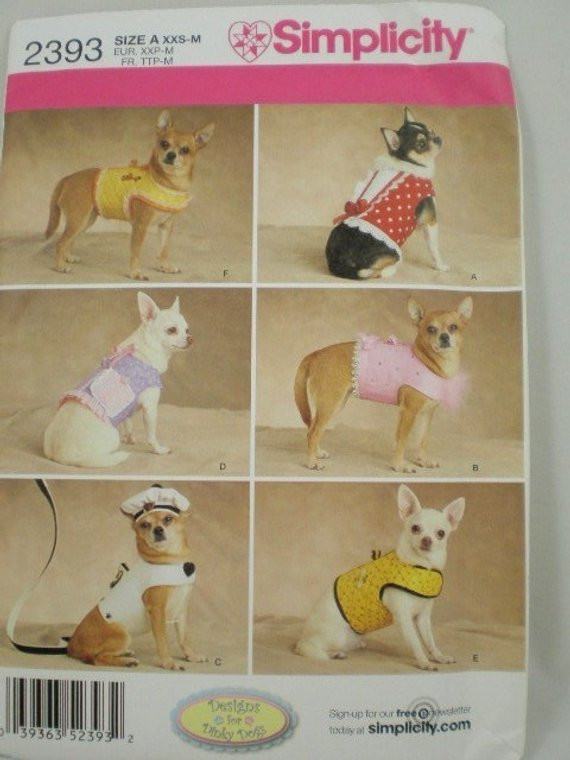 Small Dog Clothes Patterns Luxury Small Dog Clothes Pattern Simplicity 2393 Dinky Dogs Of Contemporary 43 Ideas Small Dog Clothes Patterns