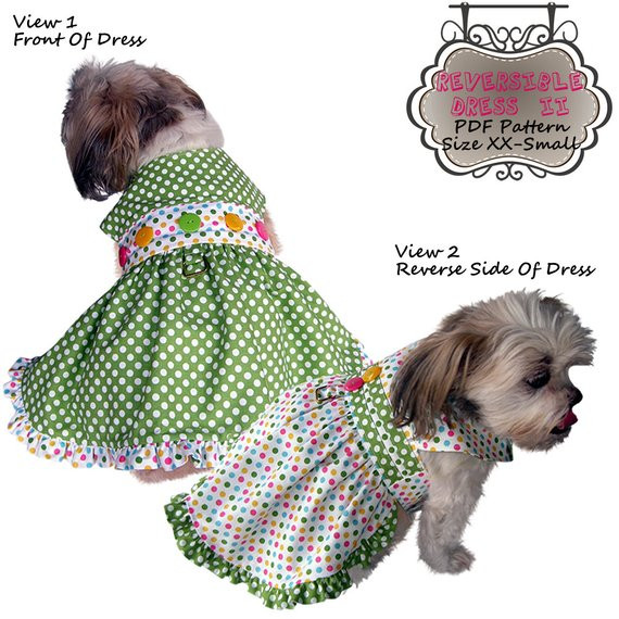 Small Dog Clothes Patterns New Dog Clothes Pattern to Sew Reversible by Missdaisydesignsshop Of Contemporary 43 Ideas Small Dog Clothes Patterns