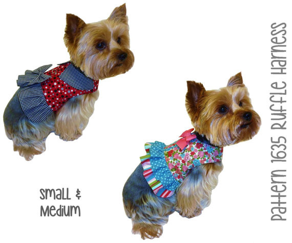 Small Dog Clothes Patterns Unique Ruffle Dog Harness Pattern 1635 Small & Medium Dog Of Contemporary 43 Ideas Small Dog Clothes Patterns