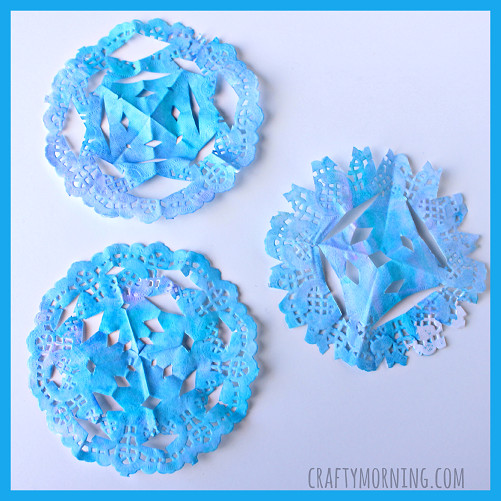 Snowflake Doily Beautiful Watercolor Doily Snowflakes Kids Craft Crafty Morning Of Wonderful 47 Models Snowflake Doily