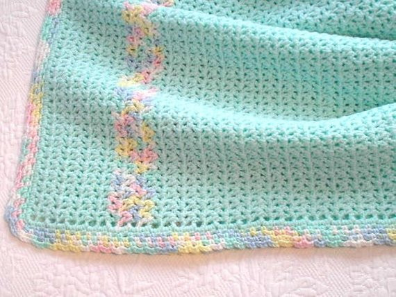 Soft Yarn for Baby Blanket Luxury Baby Blanket In soft Mint Green Baby Yarn with Pastel Trim Of Gorgeous 45 Pictures soft Yarn for Baby Blanket