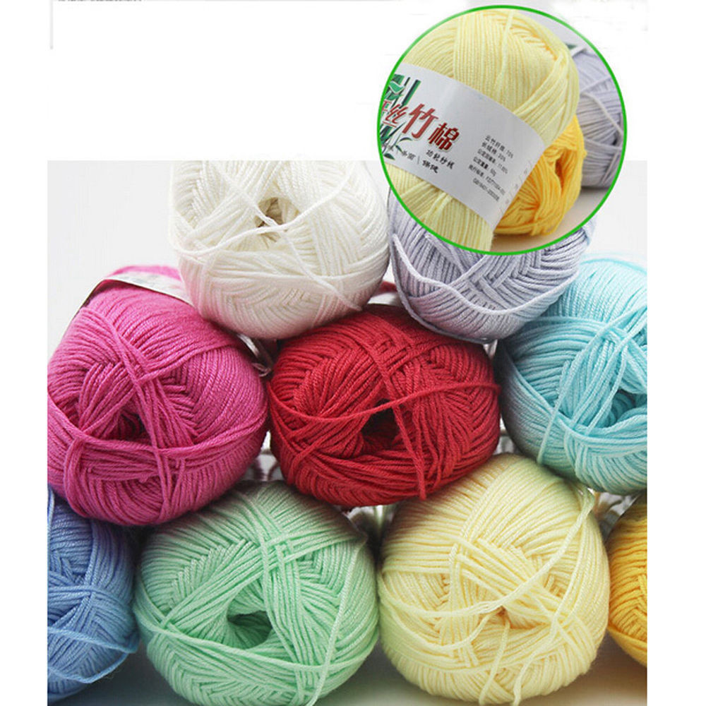 Softest Yarn for Crochet Awesome 50g Lots Colorful soft Bamboo Crochet Cotton Knitting Yarn Of Charming 43 Images softest Yarn for Crochet
