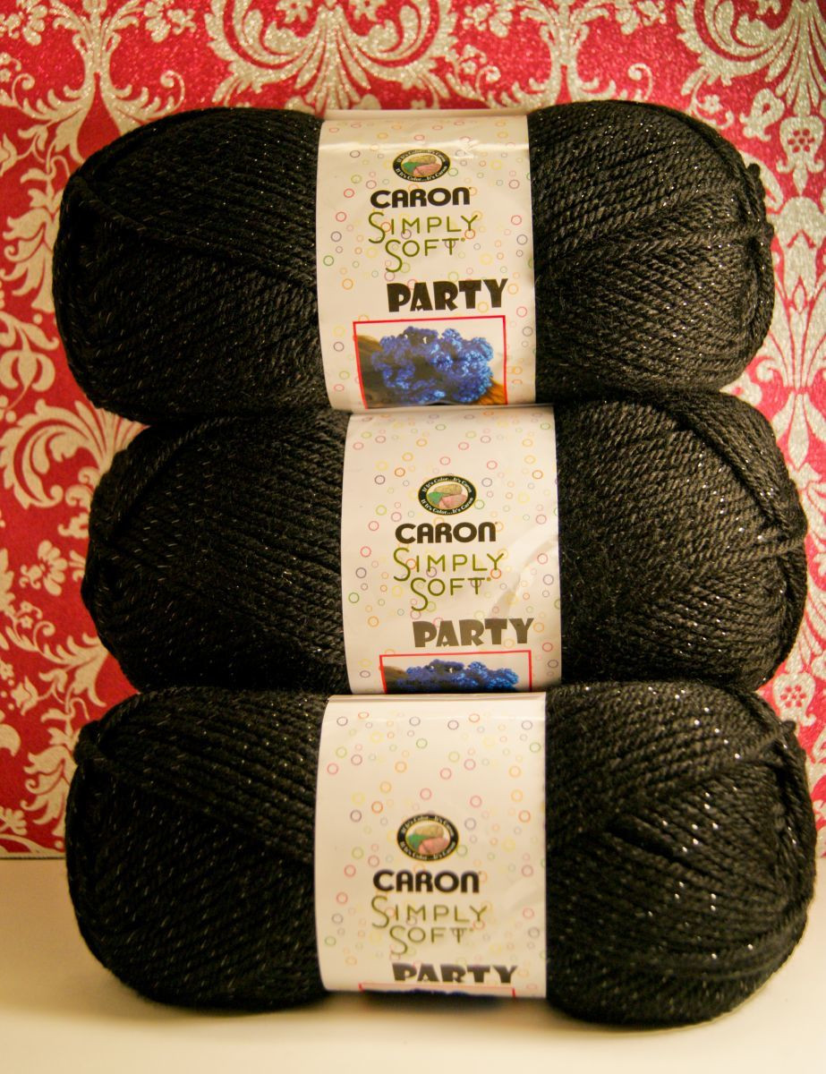 Softest Yarn for Crochet Fresh Caron Simply soft Party Yarn Black Sparkle Of Charming 43 Images softest Yarn for Crochet