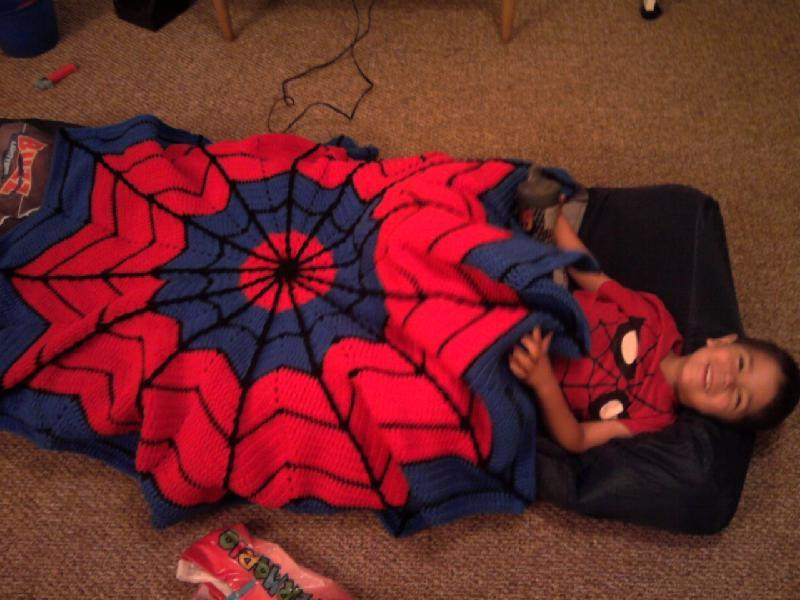 You have to see Spiderman Blanket by Cowatbar