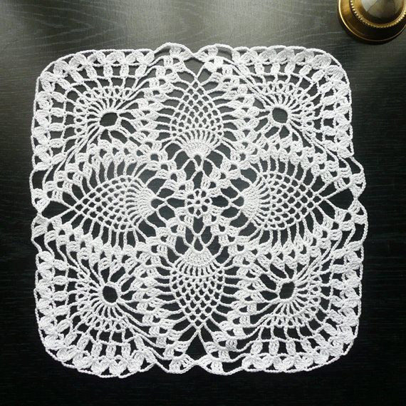 Square Doilies Beautiful Pineapple Square Crochet Doily In White Of Lovely 50 Pictures Square Doilies