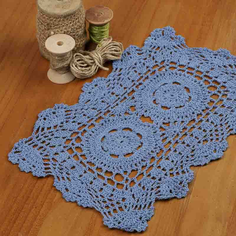 Square Doilies Fresh Blue Rectangular Crocheted Doily Crochet and Lace Of Lovely 50 Pictures Square Doilies