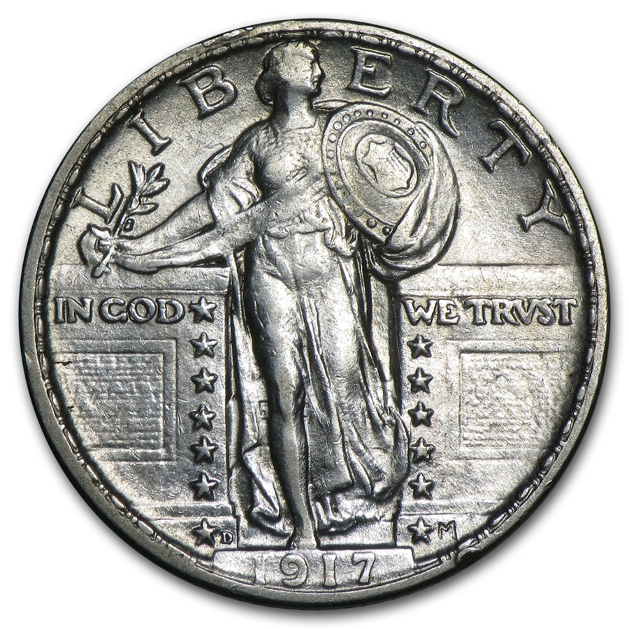 Standing Liberty Quarter Unique 1917 D Standing Liberty Quarter Type Ii Au Of Incredible 50 Pictures Standing Liberty Quarter