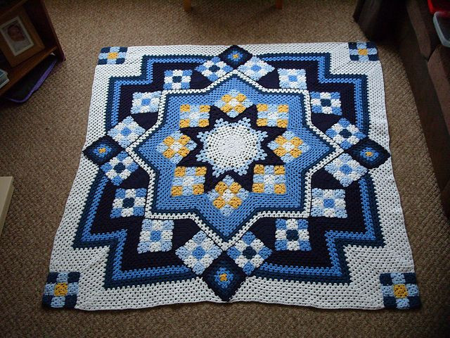 Star Blanket Crochet Pattern Beautiful Eviesmummy S Blue Star Afghan Of Adorable 46 Pictures Star Blanket Crochet Pattern