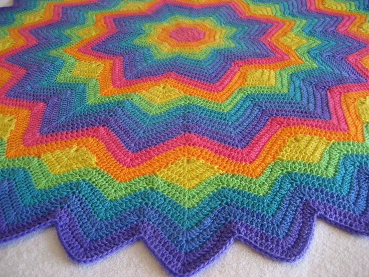 115 best images about Round ripple star blankets on