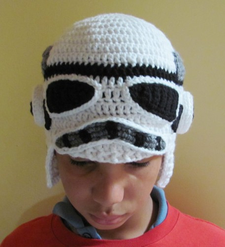 Star Wars Storm Trooper Crocheted Earflap Hat made to