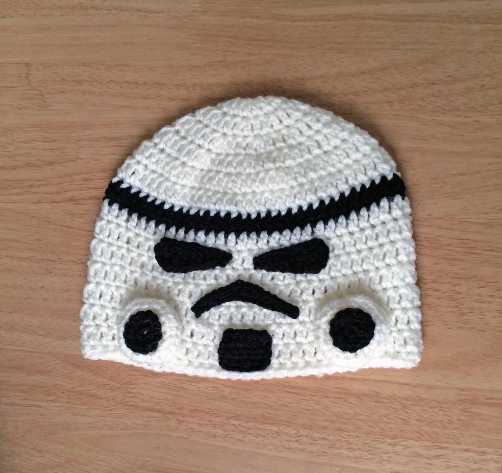 Star Wars Crochet Hat Fresh You Have to See Star Wars Storm Trooper Inspired Beanie by Of New 42 Images Star Wars Crochet Hat