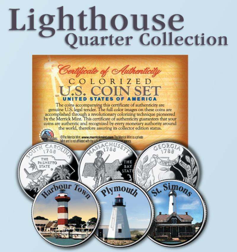 State Quarter Collection Beautiful Historic Lighthouse State Quarter 3 Coin Set 6 Of Attractive 47 Photos State Quarter Collection