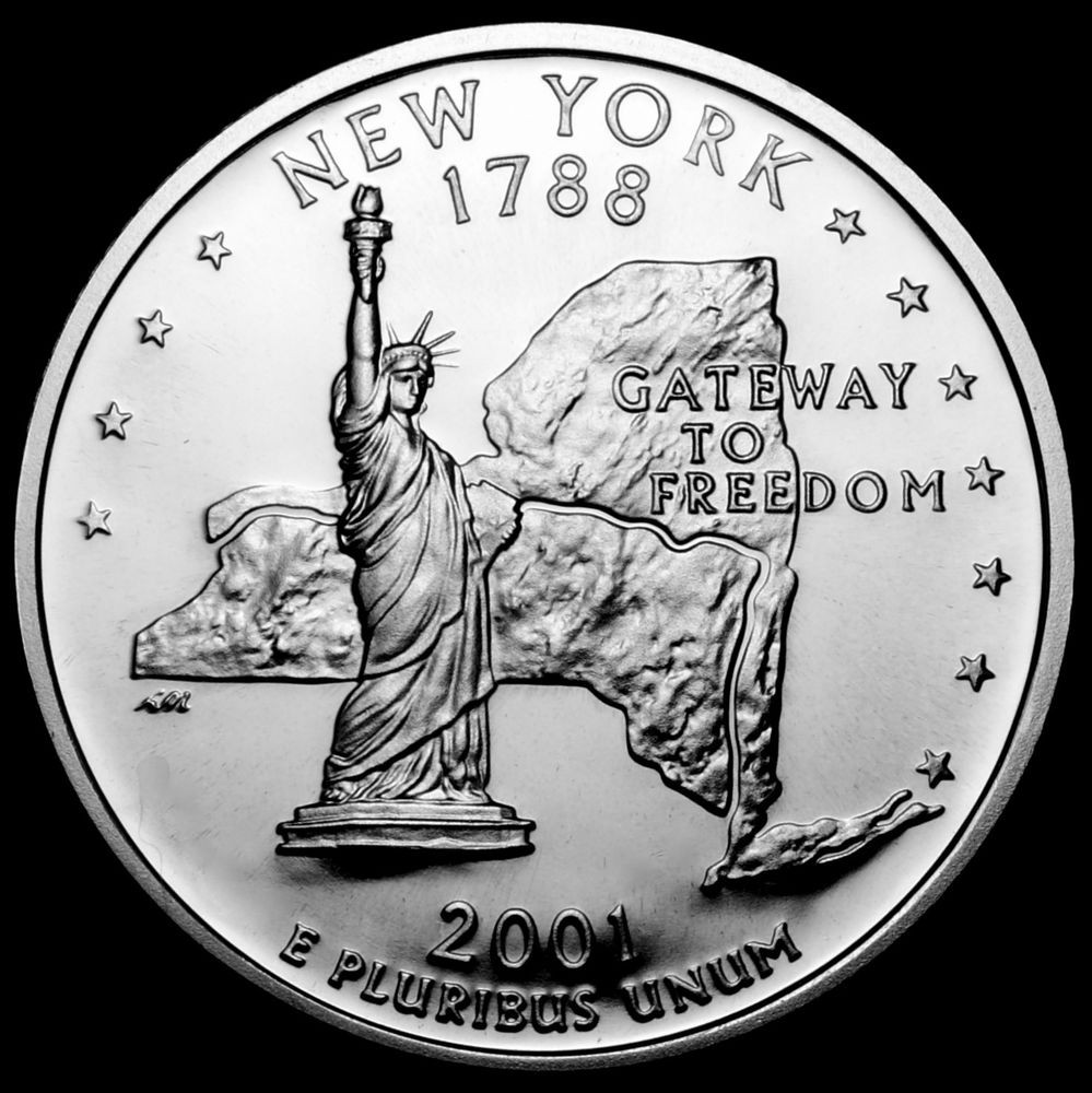 State Quarters Awesome 2001 S New York State Gem Clad Proof Statehood Of Wonderful 47 Images State Quarters