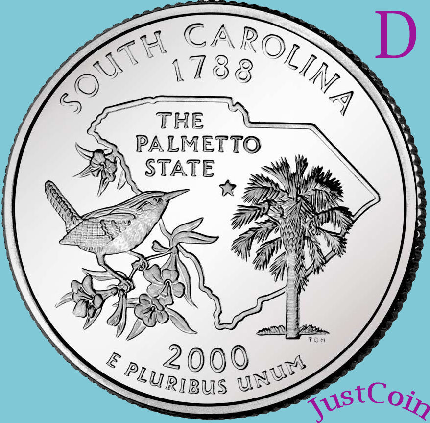 State Quarters Beautiful 2000 D south Carolina Sc State Quarter Uncirculated From Of Wonderful 47 Images State Quarters