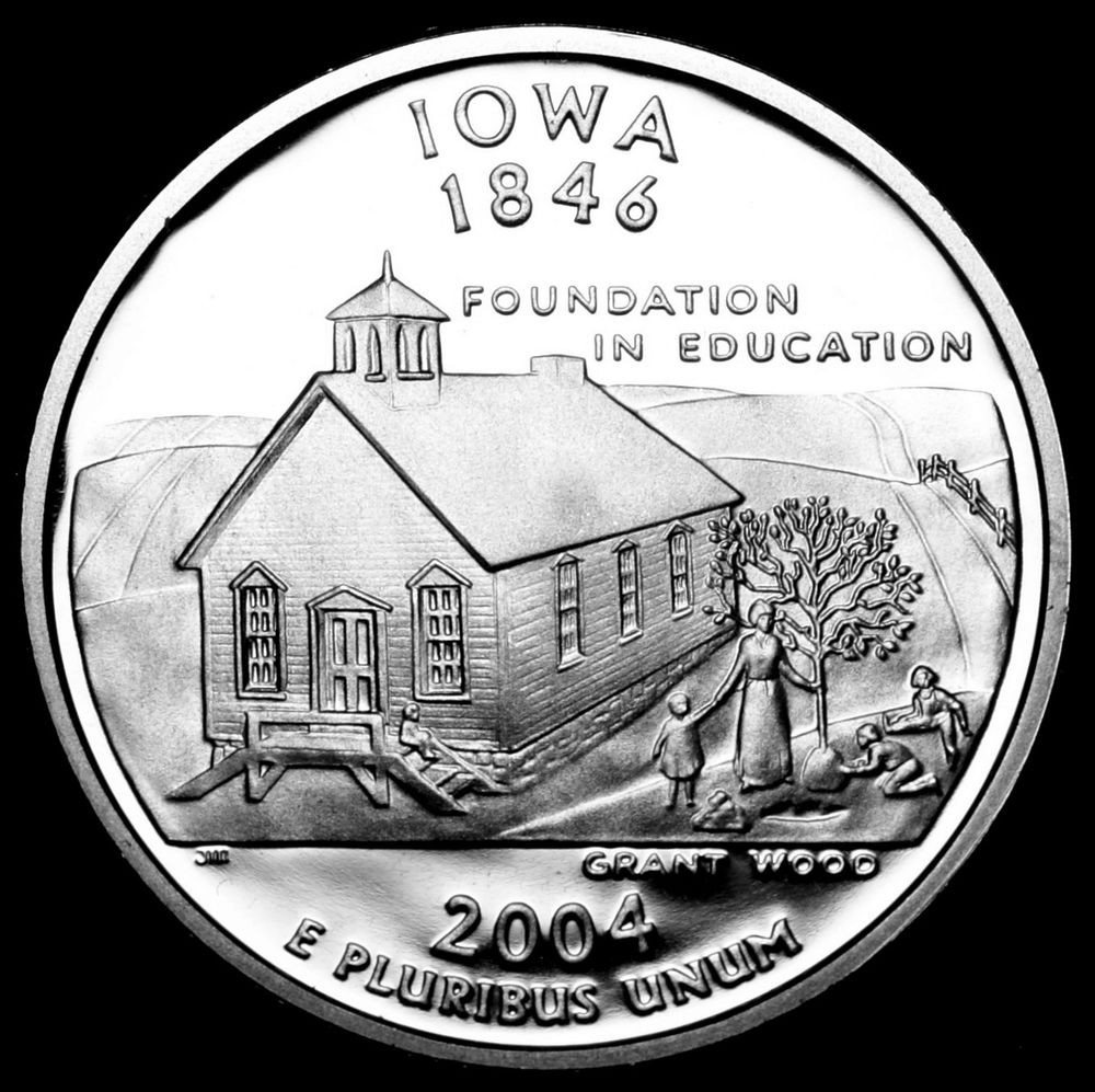 State Quarters Best Of 2004 S Iowa State Mint Silver Proof Statehood Washington Of Wonderful 47 Images State Quarters